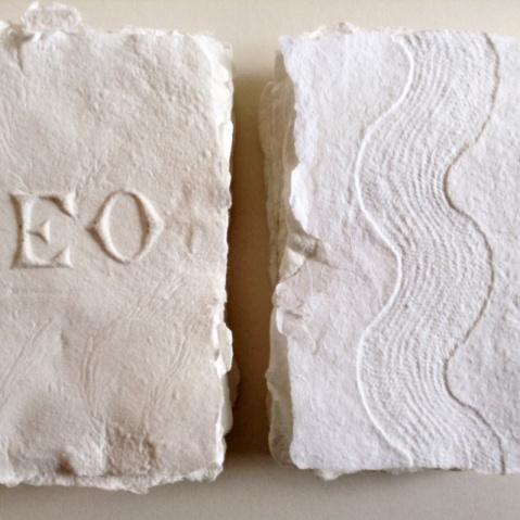 Embossed handmade paper: Jane Ponsford