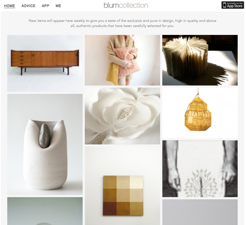 Blumcollection home page