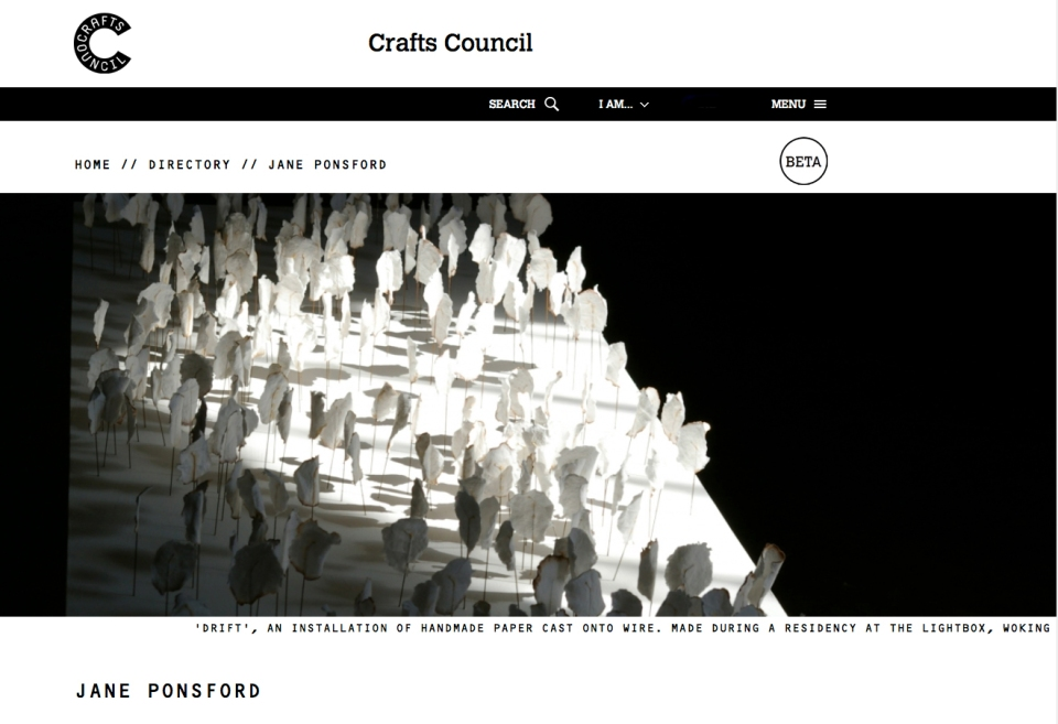 Crafts Council page
